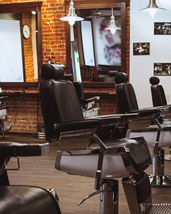 Vintage chairs and interior in stilish barbershop