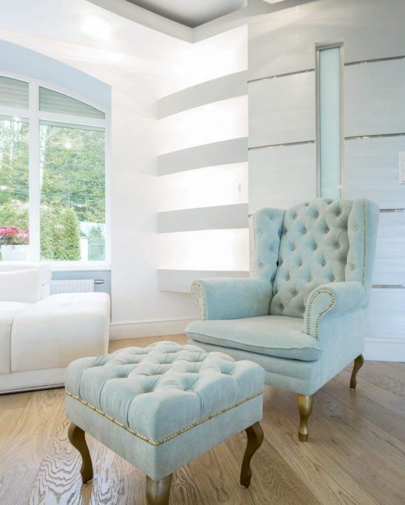 View of vintage furniture inside crystal interior
